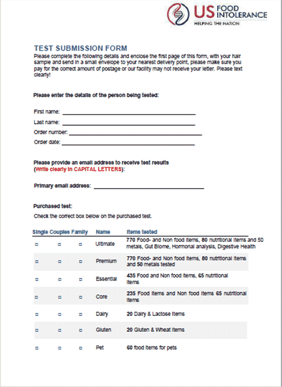 Test Submission Form